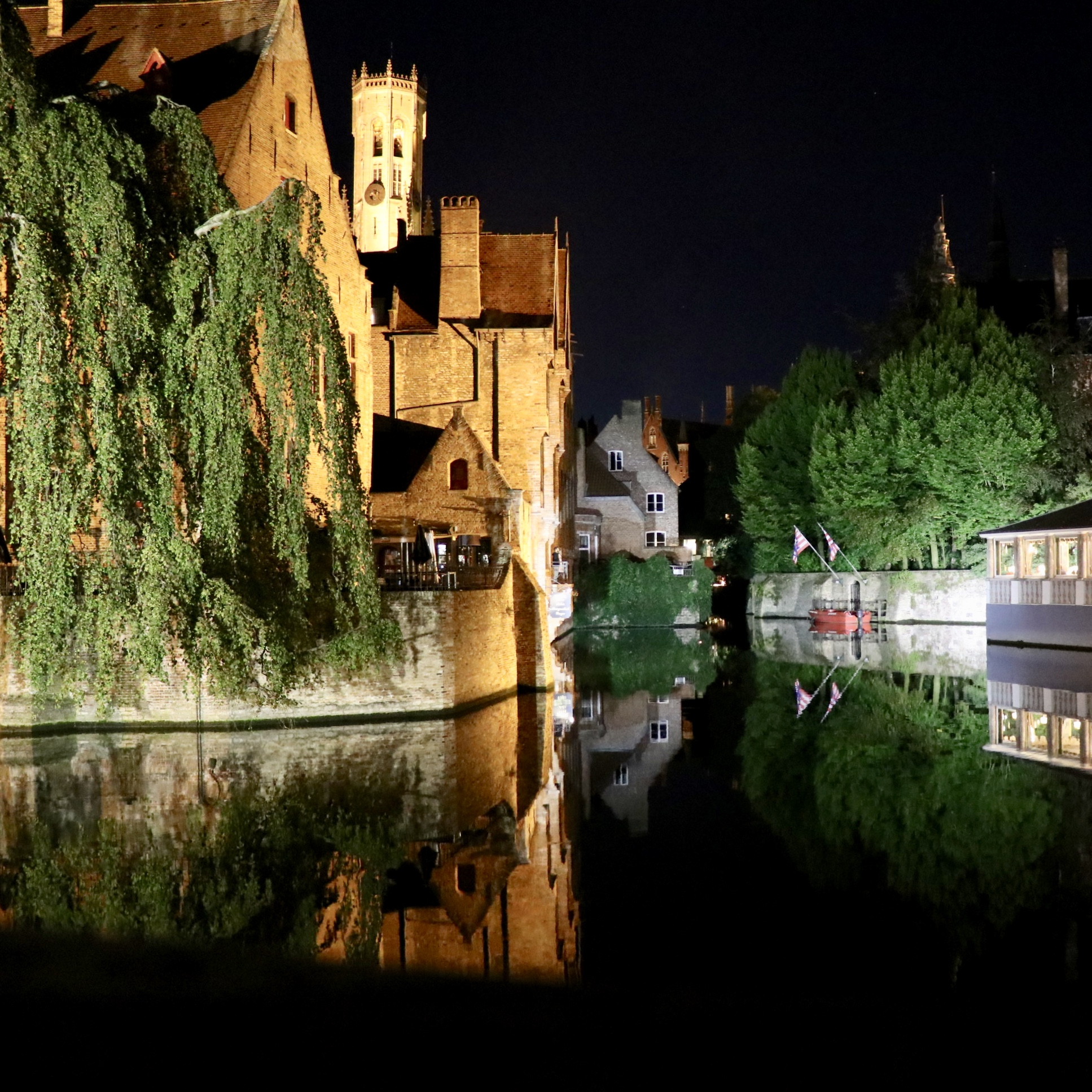 Bruges Canal Night View
